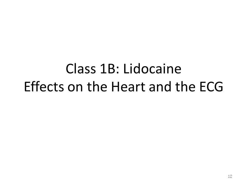 Class 1B: Lidocaine Ventricular Dysrhythmias 11