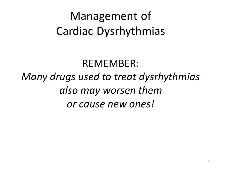 Management of Cardiac Dysrhythmias 32