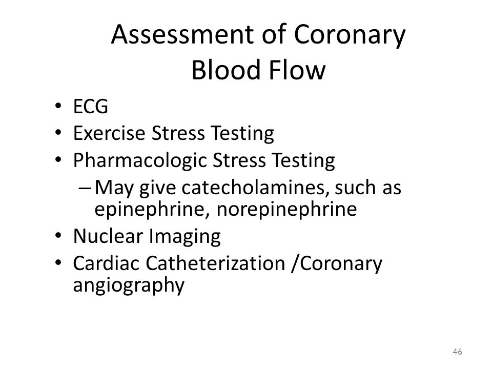 Assessment of Coronary Blood Flow 45