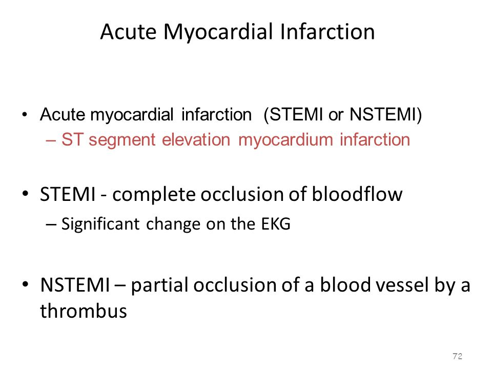 Acute Myocardial Infarction 71