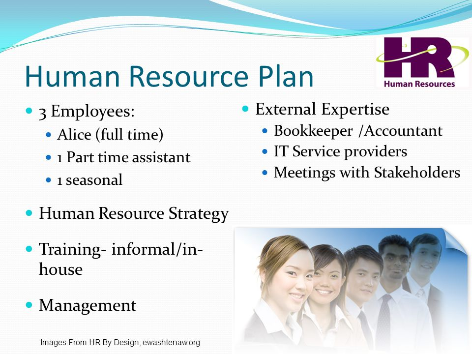 Human Resource Plan External Expertise Bookkeeper /Accountant IT Service providers Meetings with Stakeholders Images From HR By Design, ewashtenaw.org