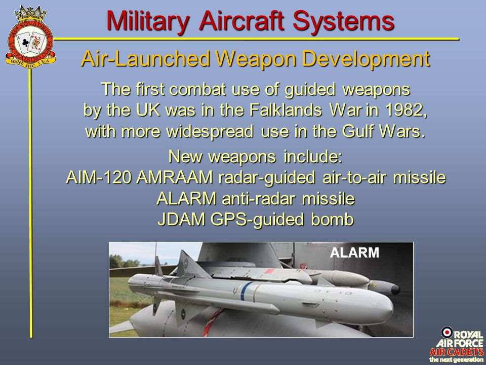 Military Aircraft Systems Air-Launched Weapon Development Existing weapons, such as the AGM-65 Maverick, continued to be developed to ensure they remain at the cutting edge.