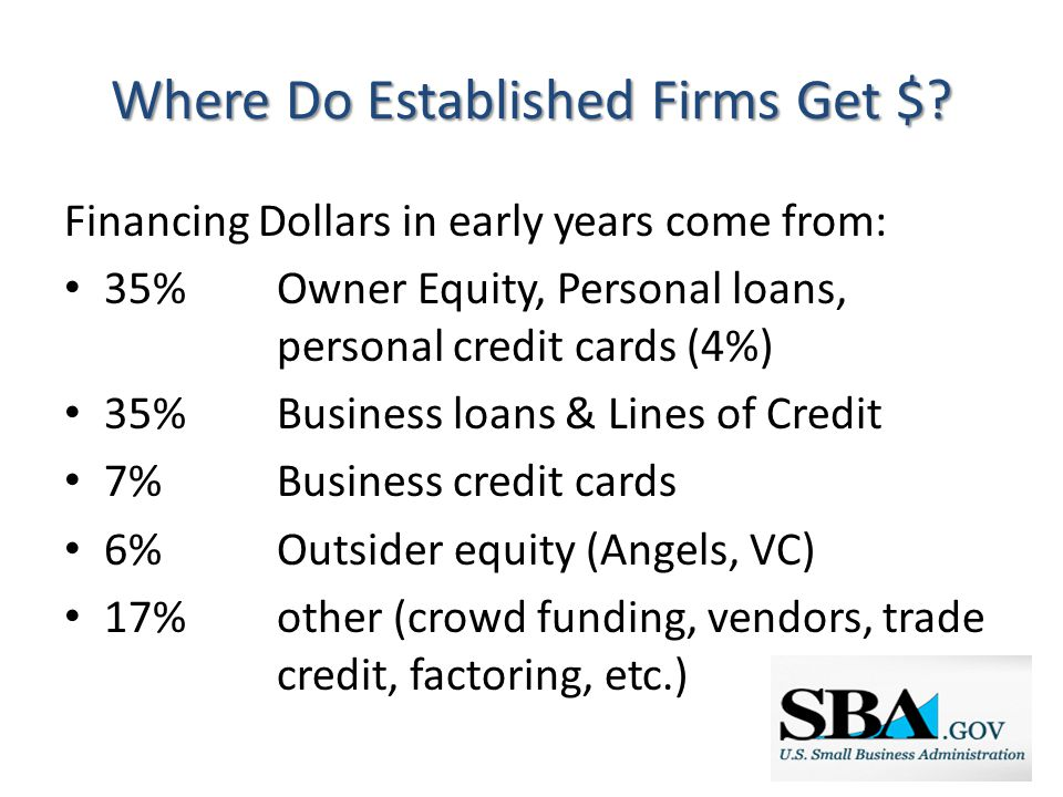 Where Do Established Firms Get $.