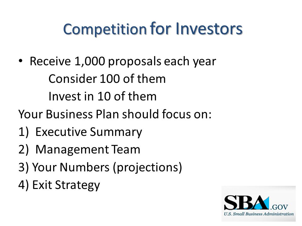 The Role of the SBA Mission: Help Biz get started and grow 3 C's: Capital, Counseling, Contracting Guaranty is a Credit Enhancement for Lenders In 2013 SBA guaranteed: o Nationally: 54,100 loans for $23 Billion o NH: 481 loans to support $100 Million in lending to small businesses