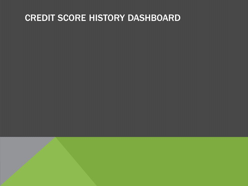 CREDIT SCORE HISTORY DASHBOARD