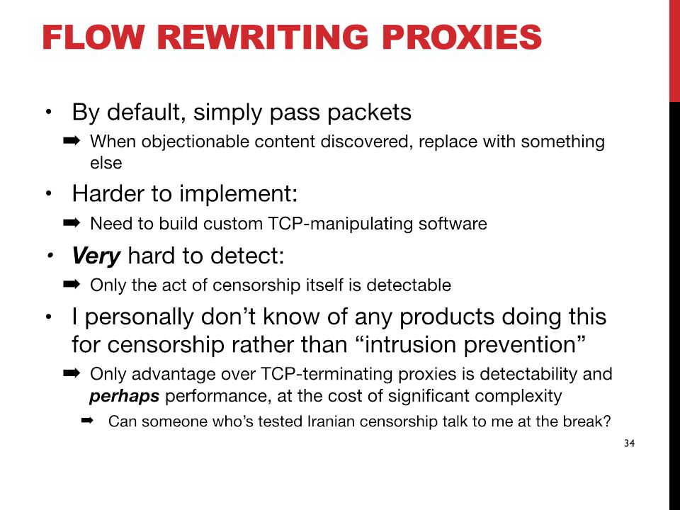 FLOW REWRITING PROXIES