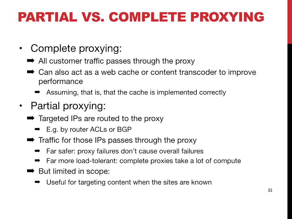 PARTIAL VS. COMPLETE PROXYING