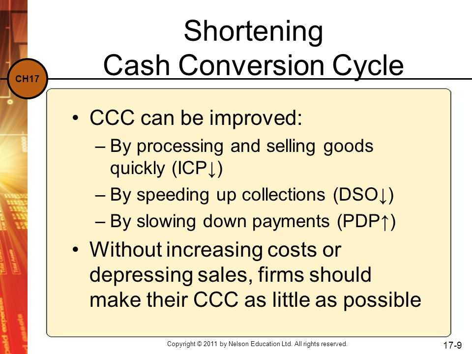 CH17 Short-term Financing The relative amount of short-term credit used is critical for a financing policy.