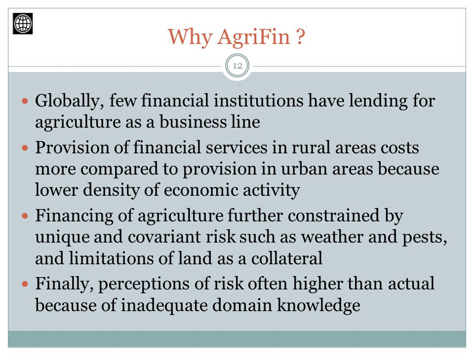 Why AgriFin .