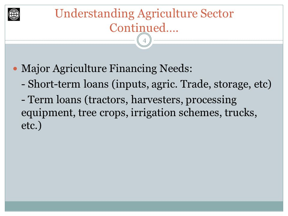 Understanding Agriculture Sector Continued….