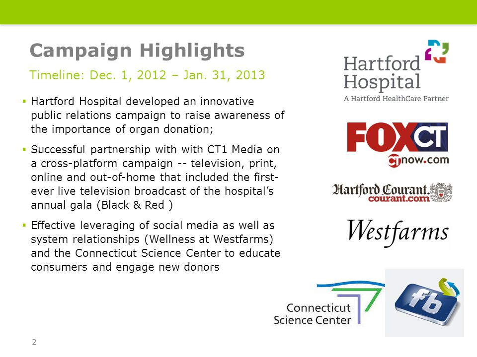 Social Media Community  Create an online community where donor stories can be shared from 12/30 to 1/27  Feature content specific to organ donation: success stories, stories of those waiting, myths associated with organ donation  Feature easily accessed links to allow registration Connecting where they connect 13
