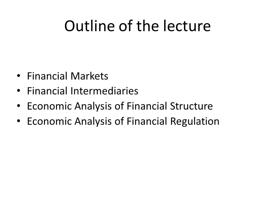 Financial Markets Function Structure Instruments