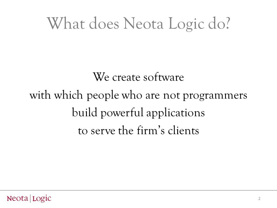 What does Neota Logic do.