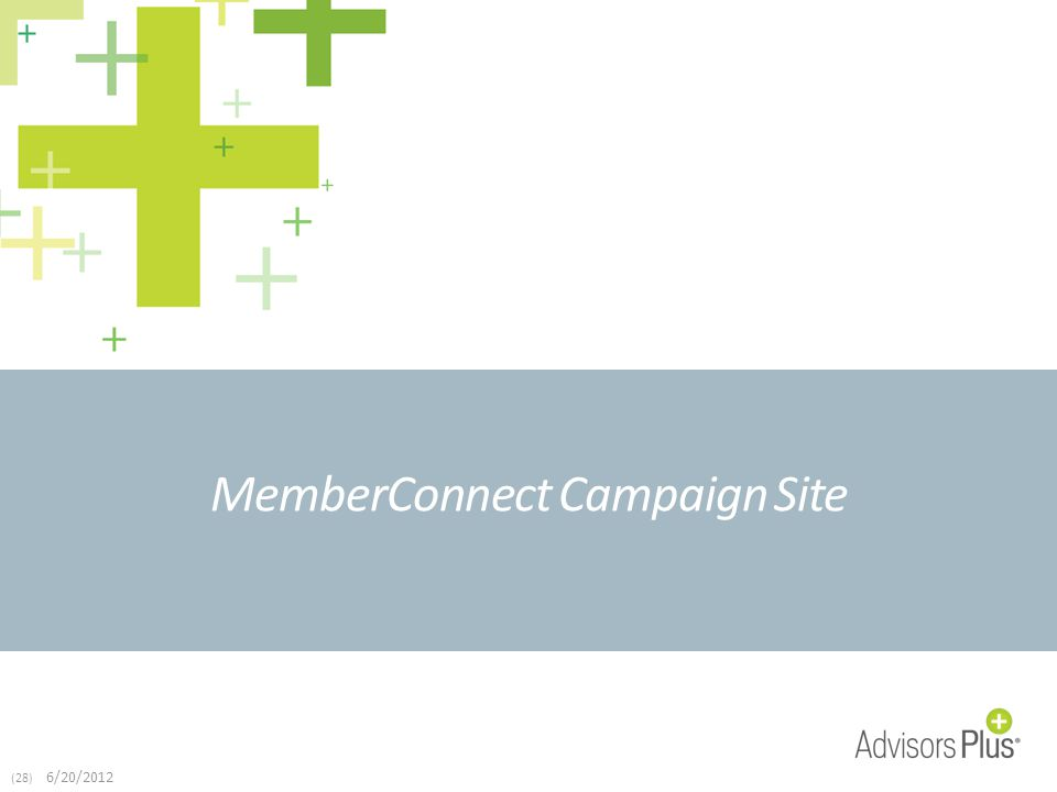 (28) 6/20/2012 MemberConnect Campaign Site