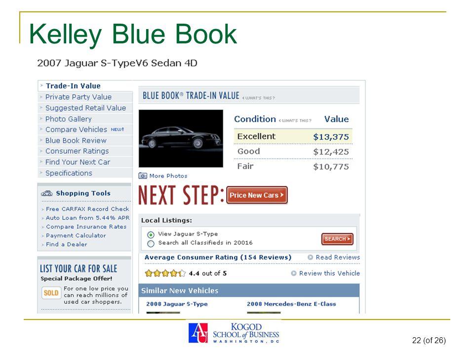 Kelley Blue Book 22 (of 26)