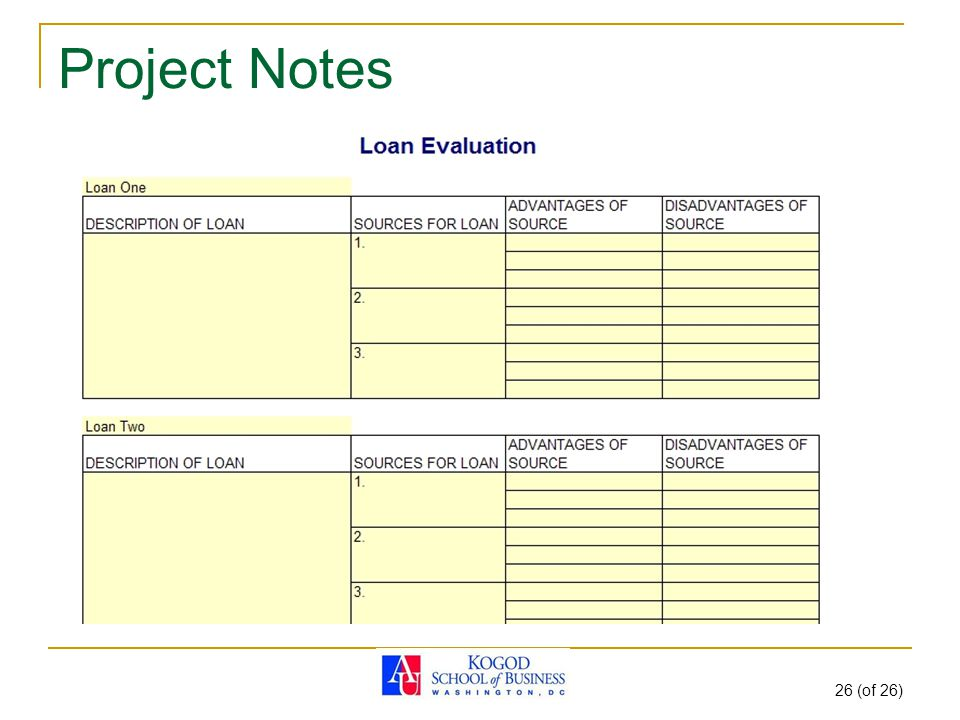 Project Notes 26 (of 26)