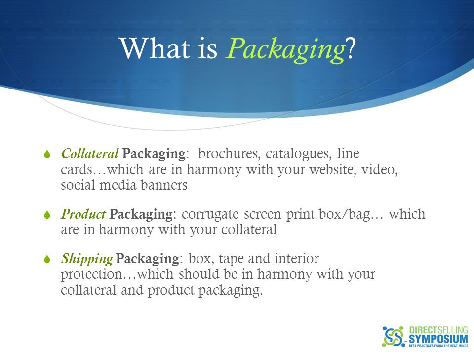 What is Packaging .
