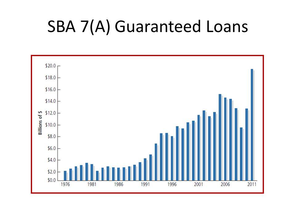 SBA 7(A) Guaranteed Loans