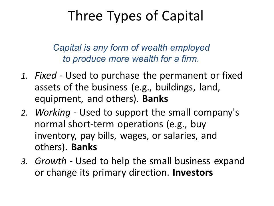 Three Types of Capital 1.