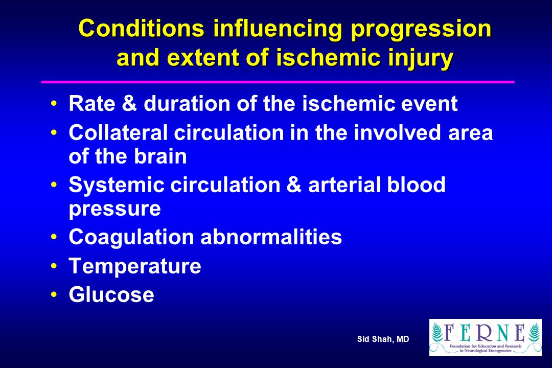 Sid Shah, MD Pathophysiology at Macro Tissue Level Cerebral Blood Flow (CBF) –Ischemic Thresholds Ischemic Penumbra and Window of Opportunity