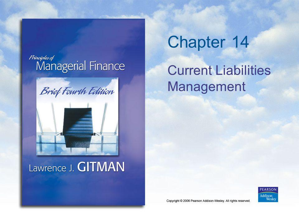 Chapter 14 Current Liabilities Management