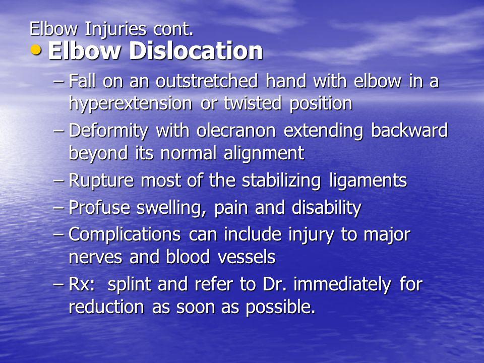 Posterior Elbow dislocation