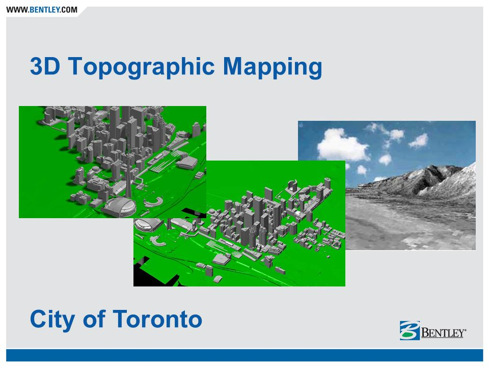 3D Topographic Mapping City of Toronto