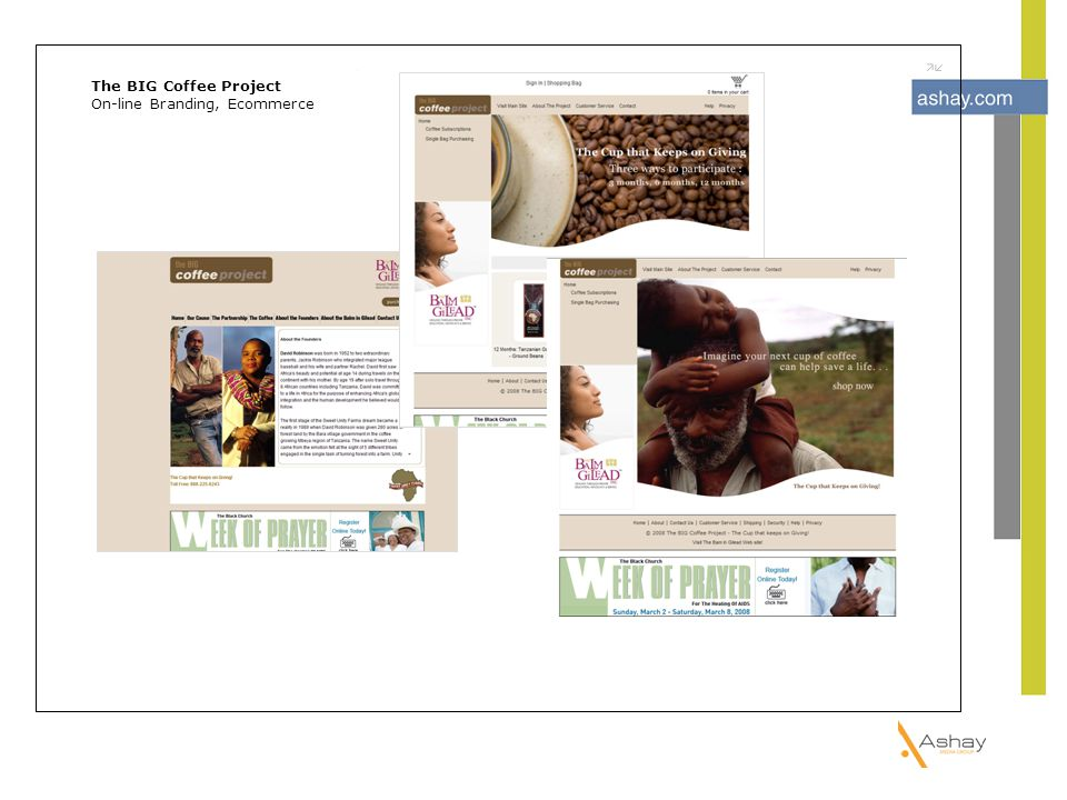 The BIG Coffee Project On-line Branding, Ecommerce