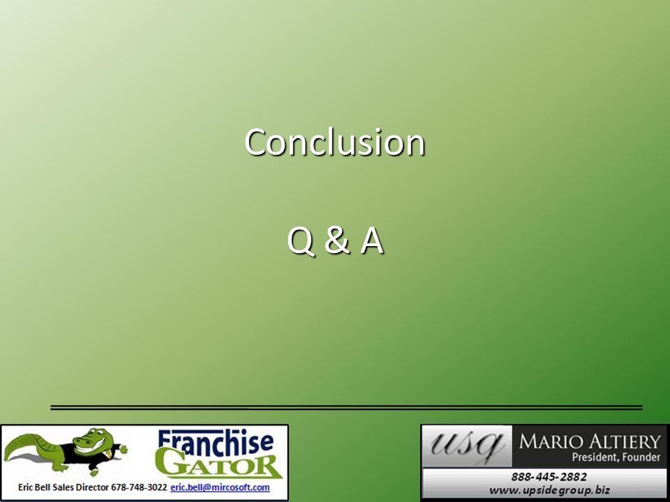 Conclusion Q & A