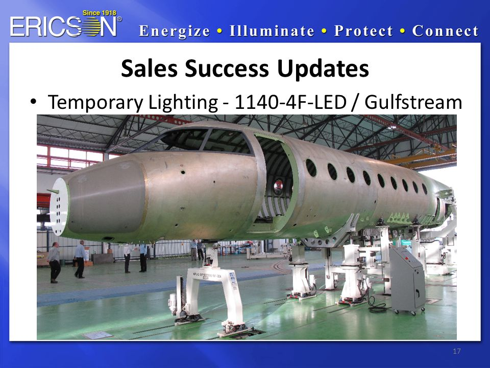 Temporary Lighting - 1140-4F-LED / Gulfstream 17 Sales Success Updates