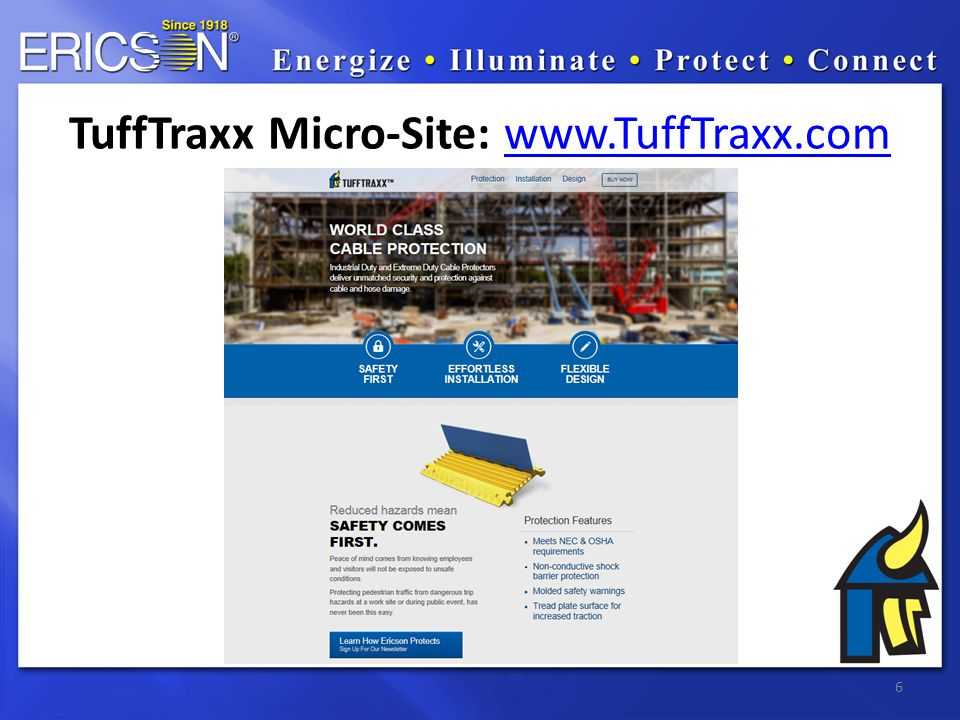 7 TuffTraxx You-Tube Introduction http://youtu.be/l2C1e02GNbc Retainer pin installation http://youtu.be/Q_lOJhGXMBc Cable installation: http://youtu.be/1lbGuwlF_FM Multi-unit installation: http://youtu.be/FcmDOc5kV7E Vehicle traffic: http://youtu.be/sF3XIZLF8kU