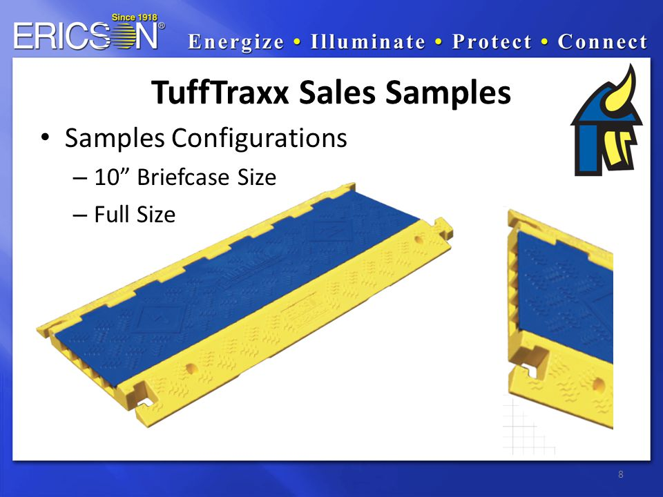 Samples Configurations – 10 Briefcase Size – Full Size 8 TuffTraxx Sales Samples