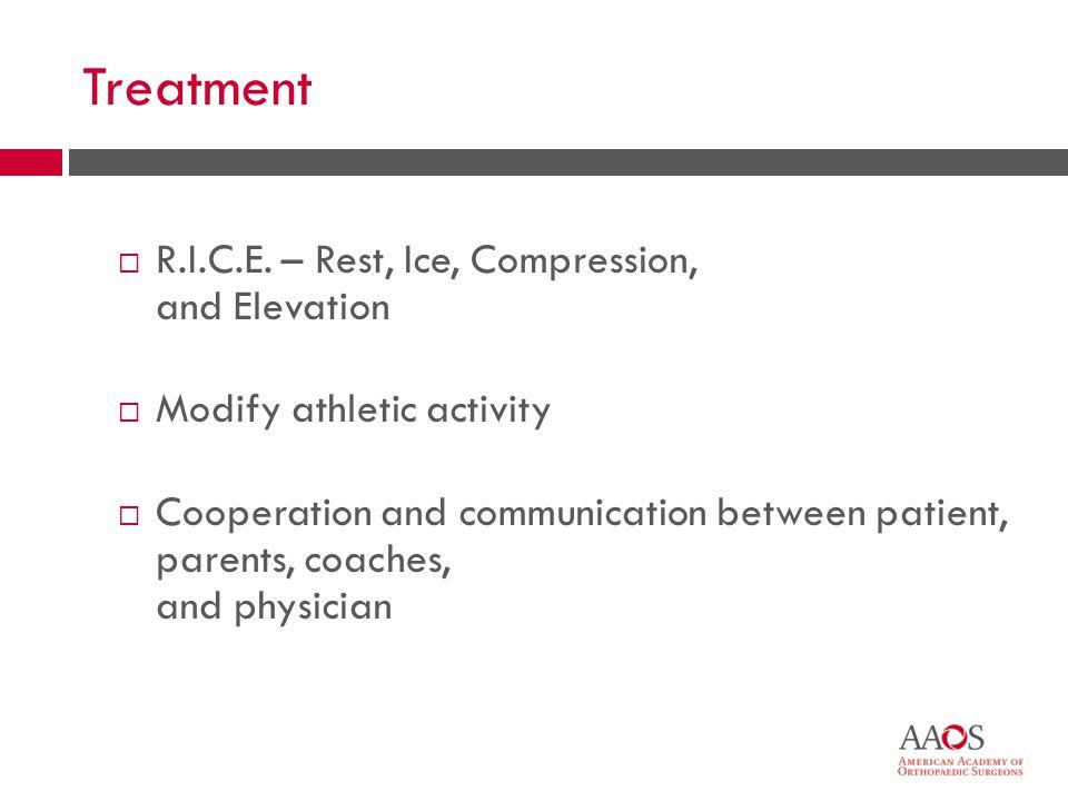 Treatment  R.I.C.E.