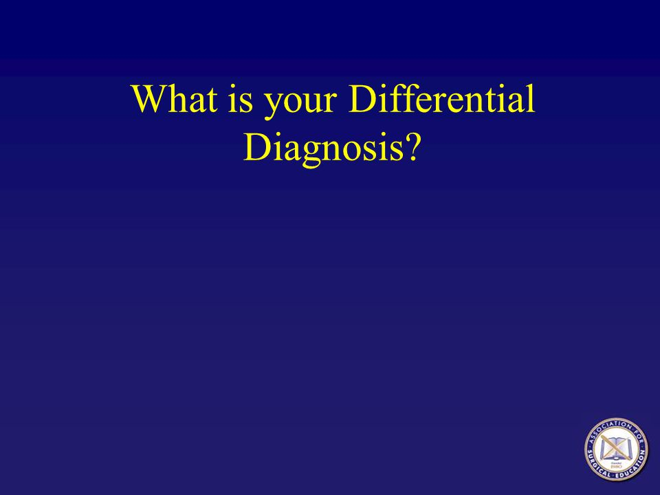 Differential Diagnosis Based on History and Presentation ObstructionSmall Bowel Obstruction Acute Mesenteric IschemiaAcute Mesenteric Ischemia Perforated DiverticulitisPerforated Diverticulitis Ischemic ColitisIschemic Colitis Perforated Peptic Ulcer Disease Acute Pancreatitis Acute Cholecystitis Gastroenteritis Acute Appendicitis