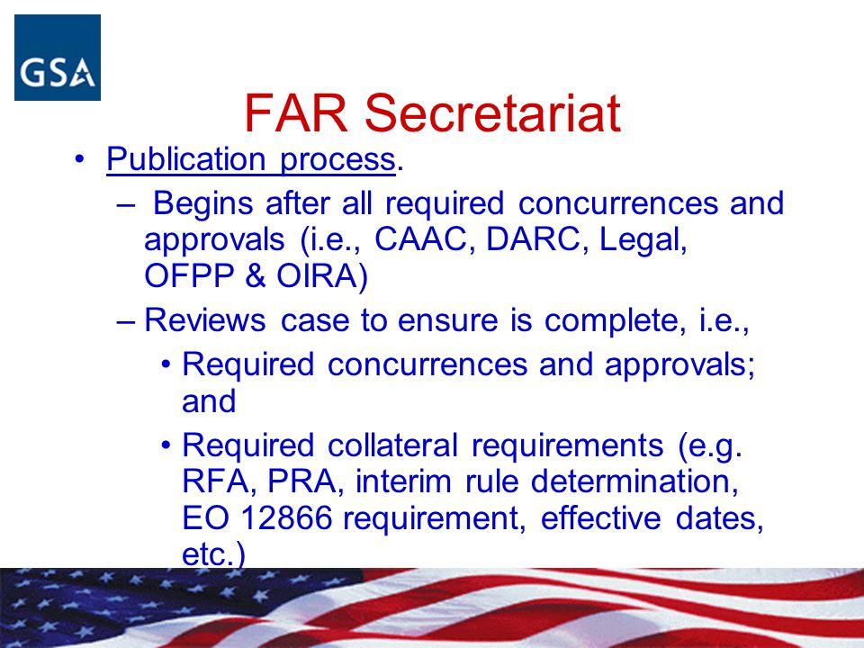 FAR Secretariat FAR 1.201-2.