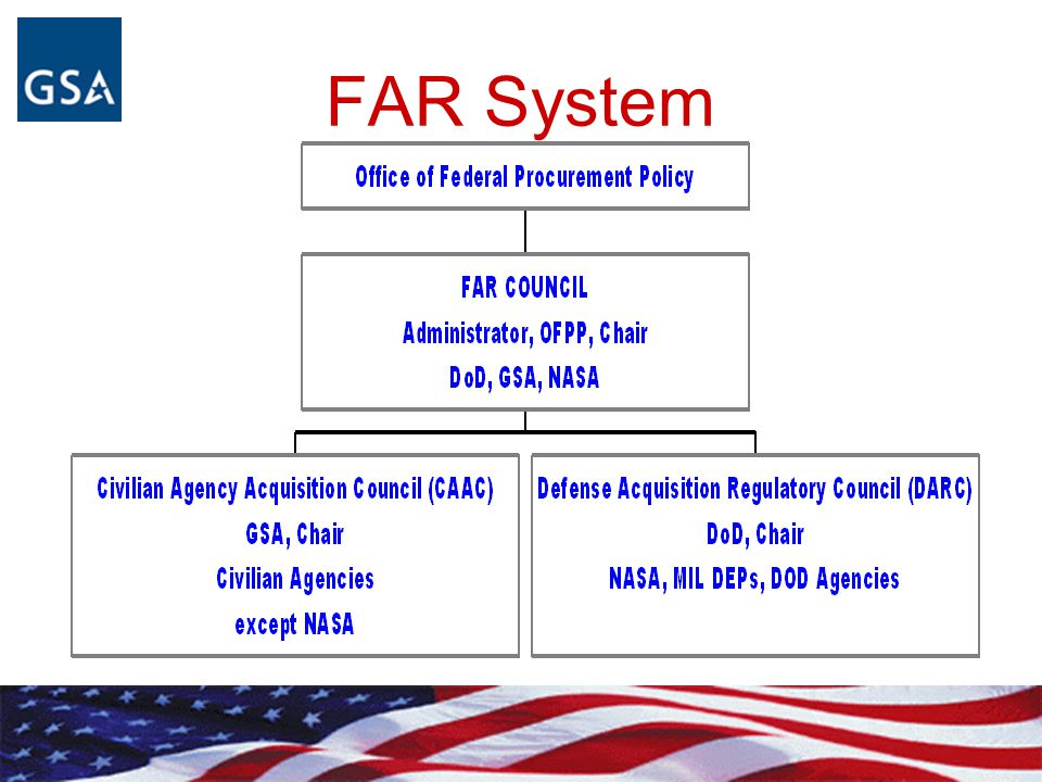 What is the FAR. Regulation for use by all Executive Agencies with statutory exceptions, e.g.