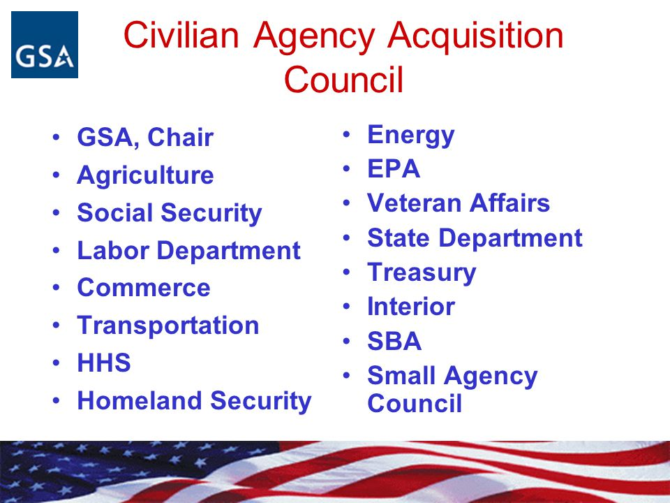 HOW DOES GSA REPRESENT CIVILIAN AGENCIES .