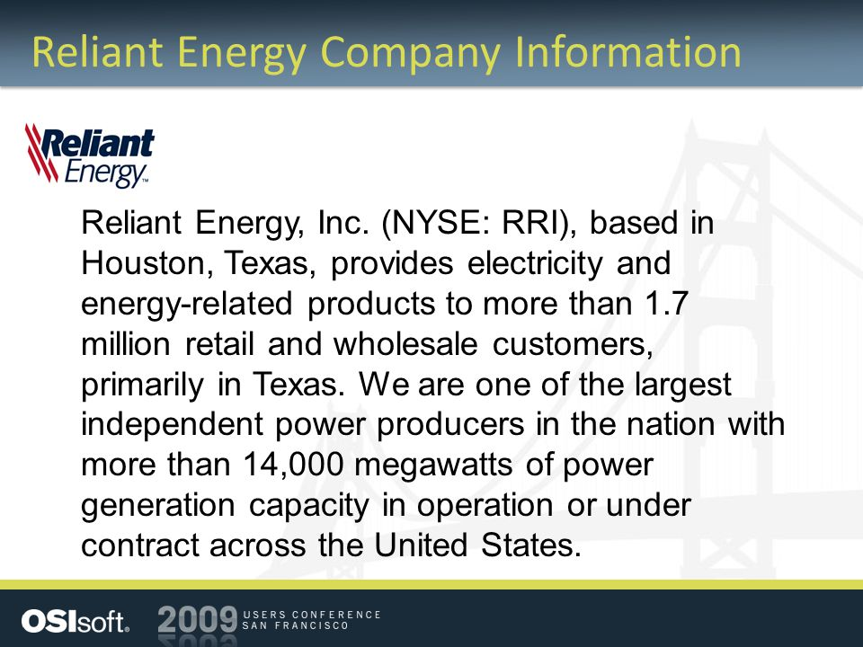 Reliant Energy Company Information Reliant Energy, Inc.
