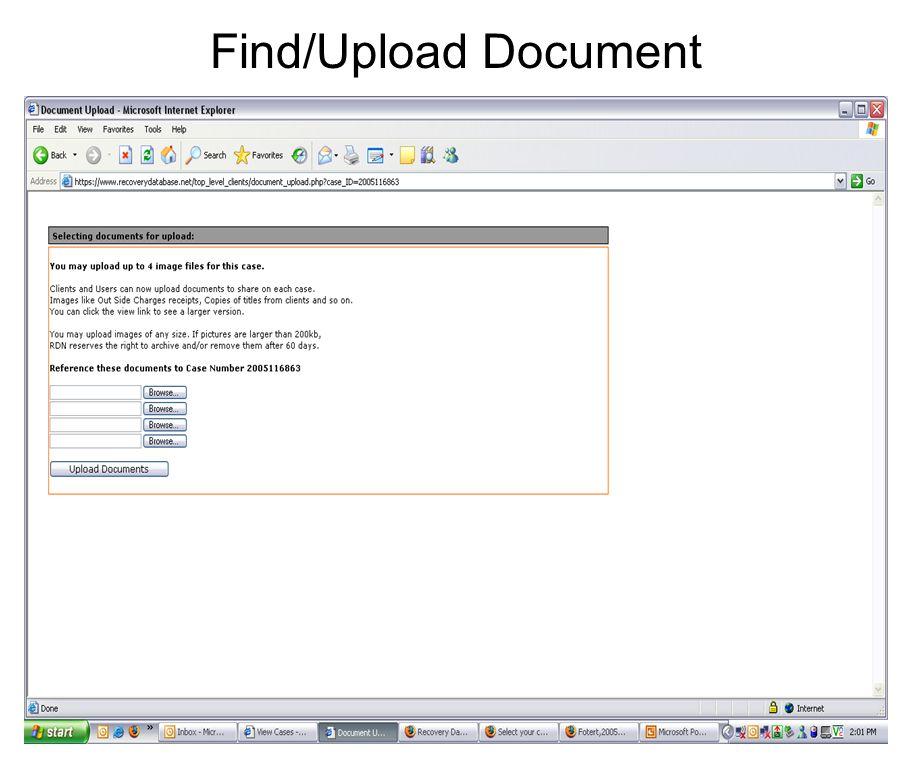 Find/Upload Document