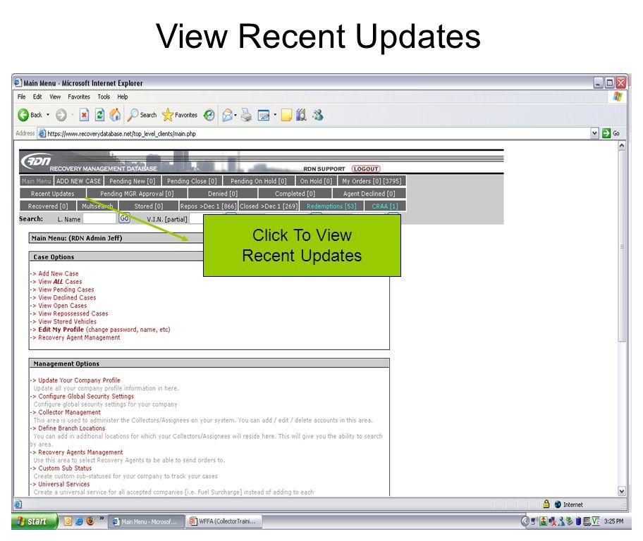 View Recent Updates Click To View Recent Updates