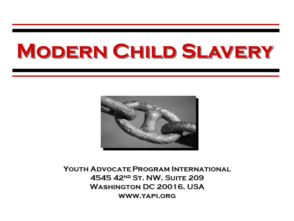 Youth Advocate Program International 4545 42 nd St.