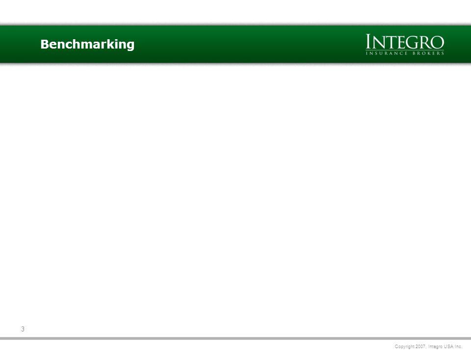 Copyright 2007, Integro USA Inc. 3 Benchmarking
