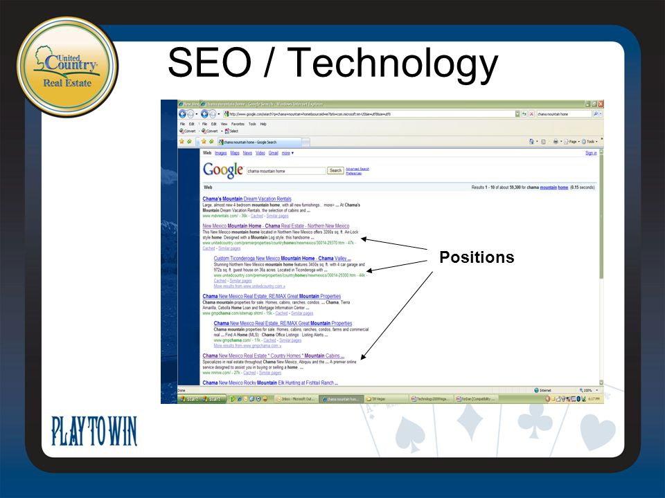 SEO / Technology Positions