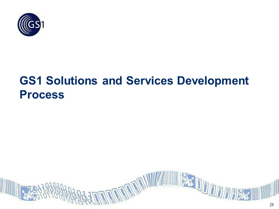 28 GS1 Solutions and Services Development Process