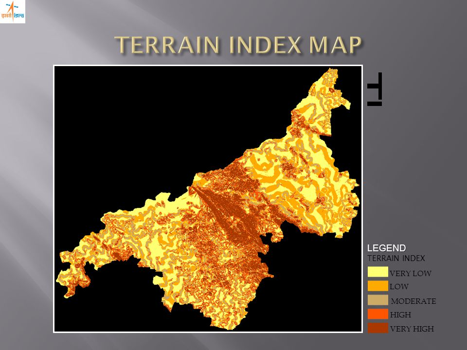VERY HIGH LOW MODERATE VERY LOW HIGH LEGEND TERRAIN INDEX