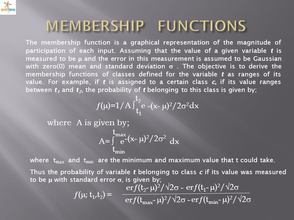 The membership function is a graphical representation of the magnitude of participation of each input.