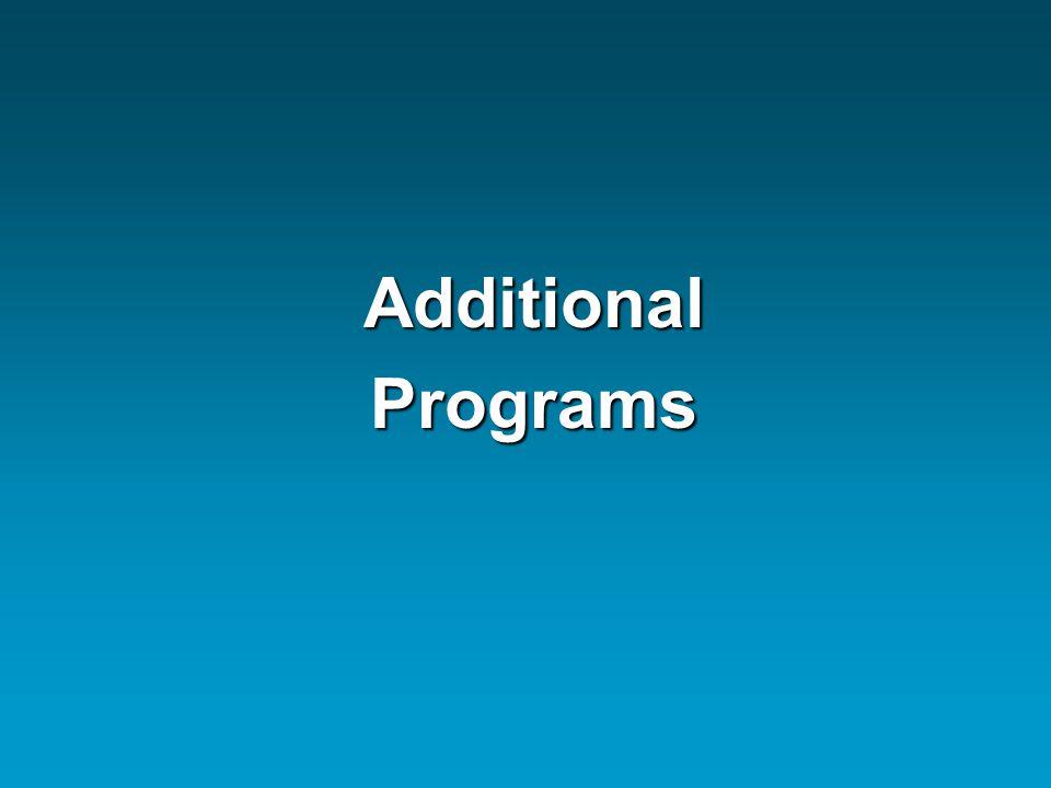 AdditionalPrograms