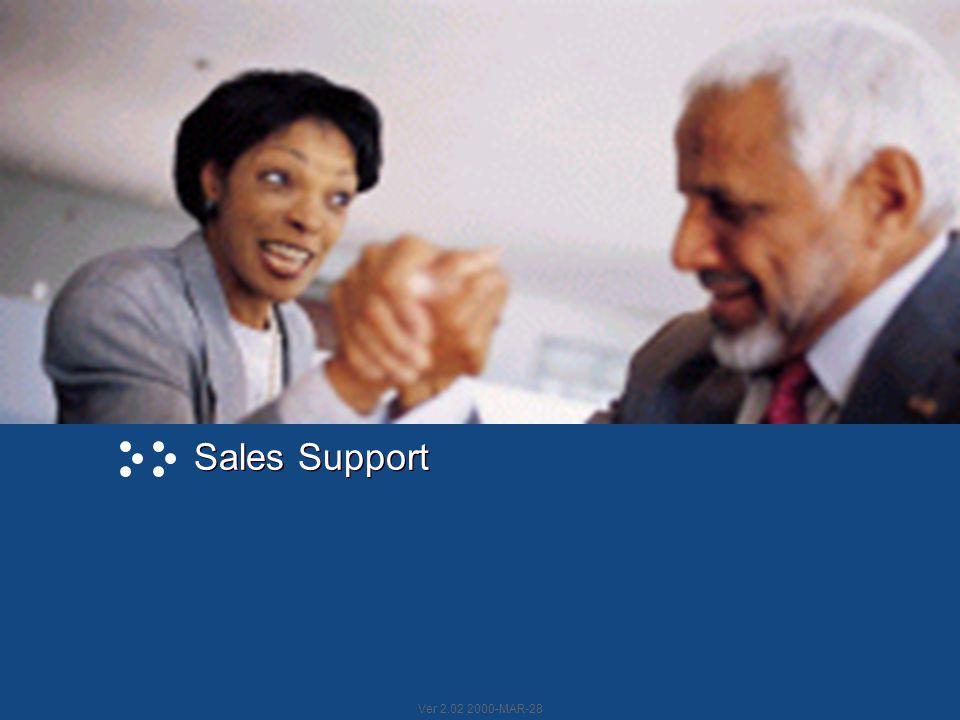 Ver 2.02 2000-MAR-28 Sales Support