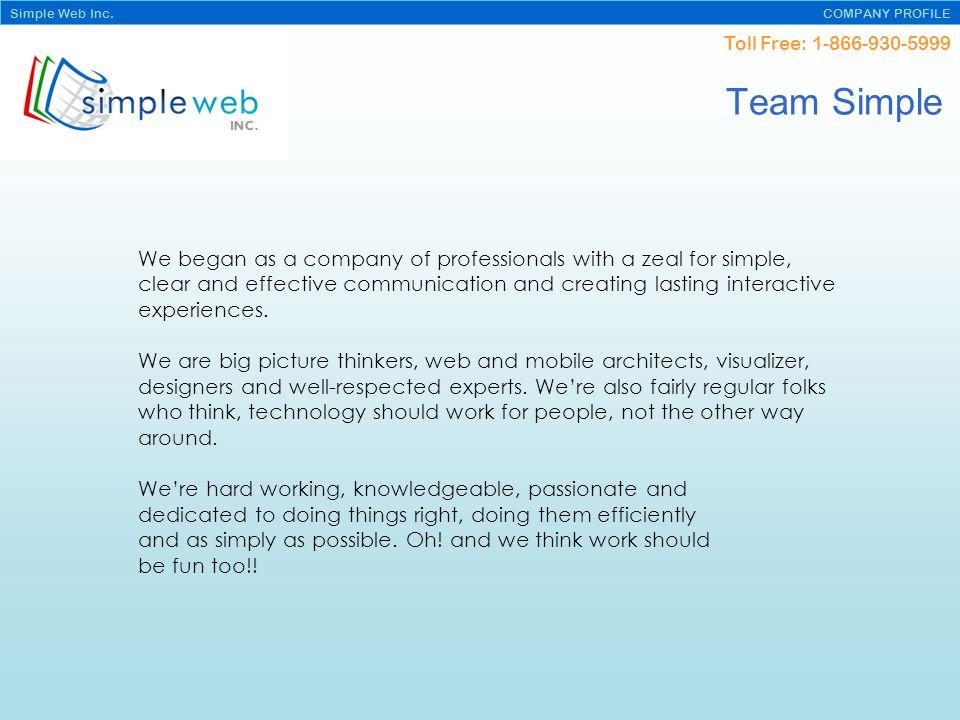 Toll Free: 1-866-930-5999 Simple Web Inc.