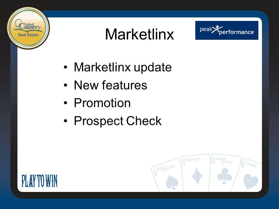 Marketlinx Marketlinx update New features Promotion Prospect Check